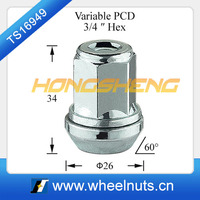 hongsheng hex 21mm lug nut covers
