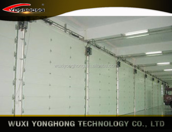 Insulated automatic sectional overhead doors for homes and indutrial warehouses