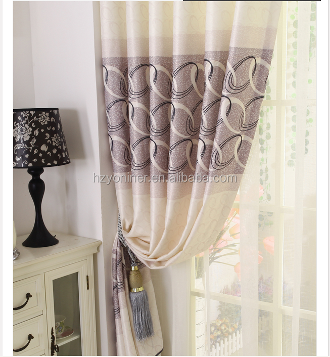 100% polyester printing curtain fabric hometextile bedroom fancy curtain