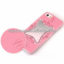 2013 hot!crystal and mirror for iphone5 case ,for iphone 5 mirror case