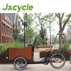 Family three wheel cargo trike with mid-motor