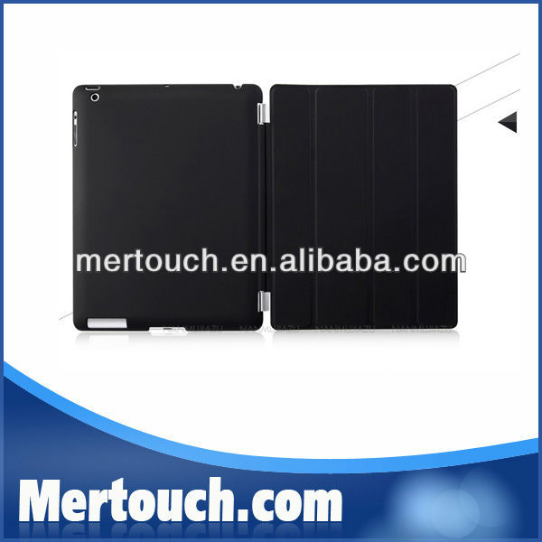 Portable leather case for ipad 2 3 4 smart cover back cover