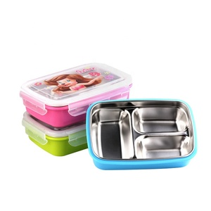 Hot selling multicolor stainless steel lunch box storage boxes