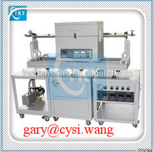 Hot product! lab graphene cvd tube furnace / High vacuum PECVD system for hydrogenated amorphous silicon for sale
