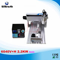 6040V+H 2.2KW 4axis mini CNC router with VFD limit and 2.2KW VFD water cooling spindle wood lathe