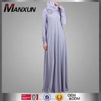 Manxun Abaya Women New Model Abaya in Dubai Muslim Latest Burqa Designs Pictures with Stone Flower Decoration