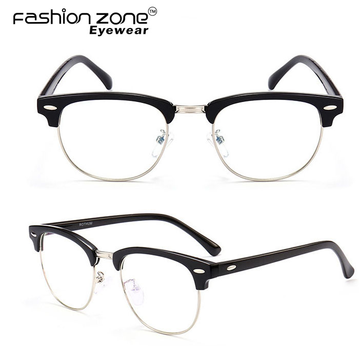 Retro club style TR90 Asian fit eyeglasses spectacle glasses frames