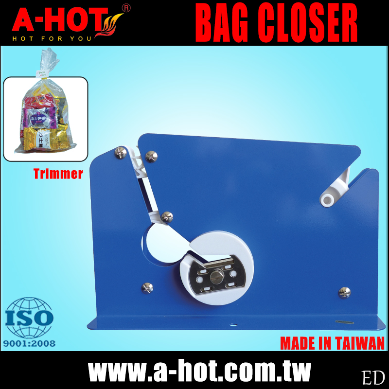 Retail Application Trimmer Metal Bag Closer Machine