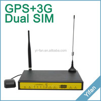 F7446 industrial gps wifi umts router 3g router WITH VPN 4 Lan RS232/RS485 Qos VPN DDNS