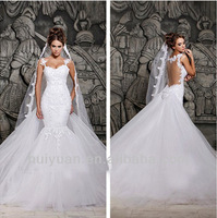Sexy White Removable Train Lace And See Through Wedding Dress China