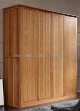 Modern bamboo bedroom 3 door wardrobe designs