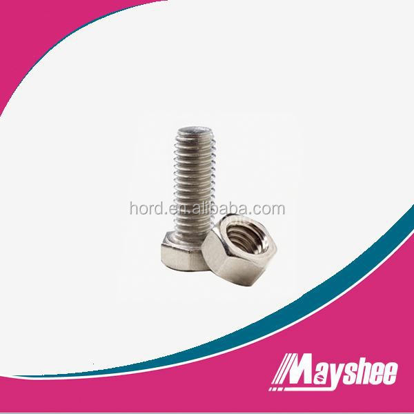 production standard hex stainless steel 309S bolt and nuts