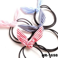 High quality hair bow with elastic band thin hair elastic band elastic hair bands
