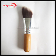 bamboo handle angled kabuki brush,logo as client'needs and free sample,professional hot sell kabuki brush