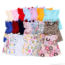 Wholesale kids summer clothing children clothes girls flutter top fancy girl t shirts