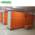 wooden look ABS plastic coin operated swimming pool storage cabinet locker