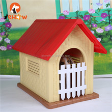 Dog Kennel Pet House Large Durable Plastic Animal Shelter Weatherproof Outdoor