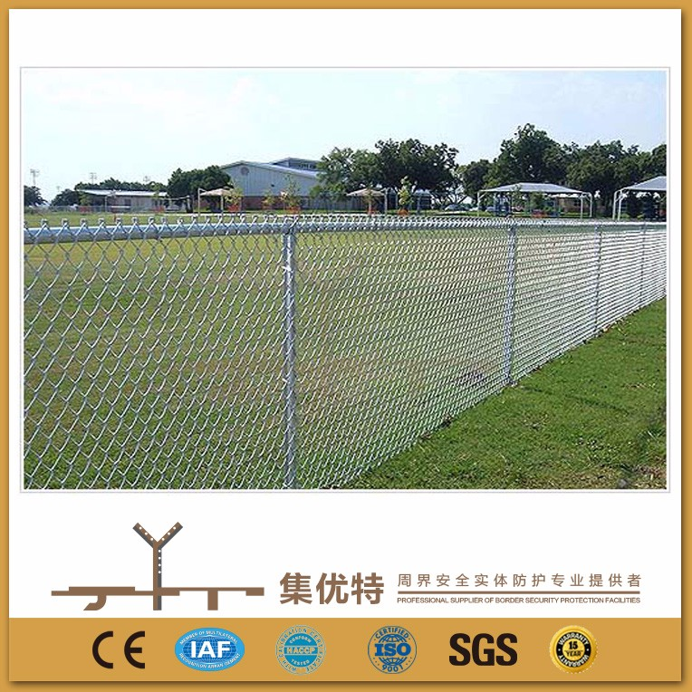 Applied for park galvanized and PVC coated used chain link fence for sale