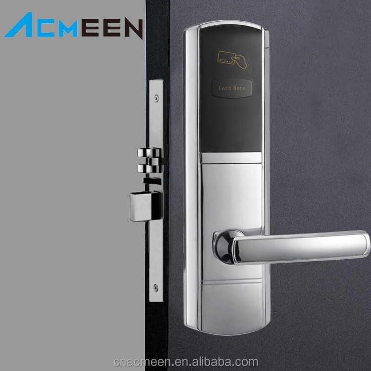 Hotel Door Lock Batteries Operated RF Card Electronic Locks