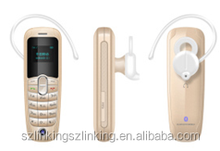 Gold Color Bluetooth Headset Mini Phone Used Driving the car
