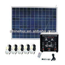 30W Integrated Solar lighting system for home use