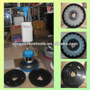 Marble and granite industrial floor burnisher
