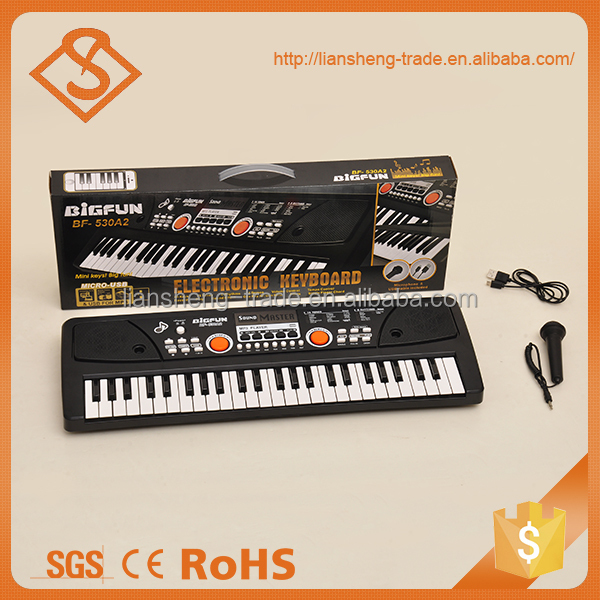 Plastic learning toy music instrument cheap electronic keyboard