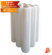 High transparent PVC shrink film roll , PVC warpping film for collective bottle packing
