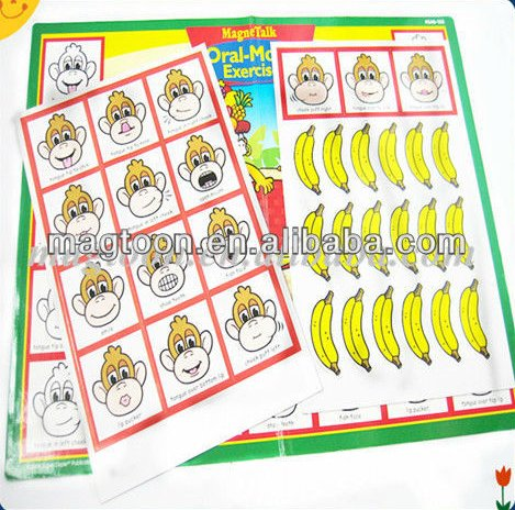 Custom monkey printing educational magnetic book toy for Children