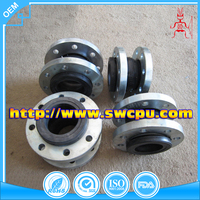 Industrial rubber bellow expansion joint with flange