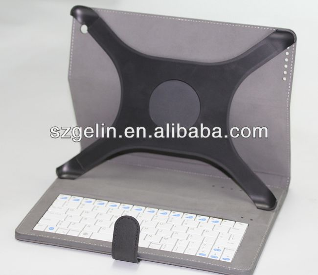 2013 newest solar charger detachable bluetooth keyboard case for ipad 3