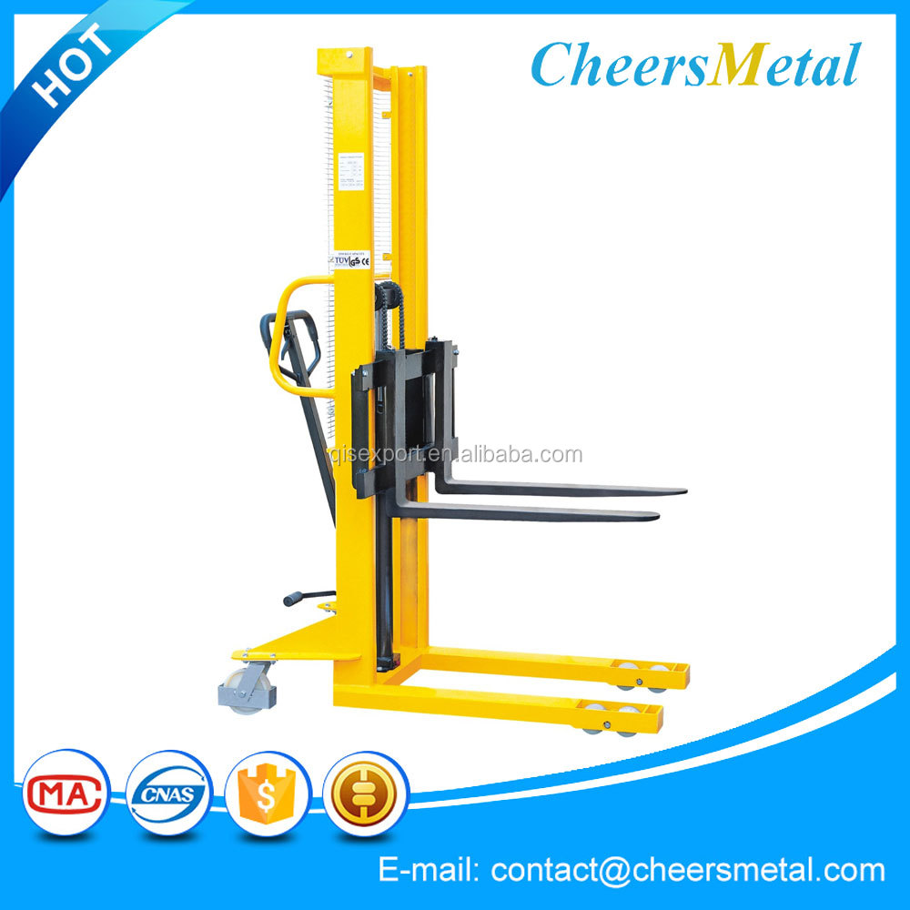 manual hydraulic hand counterbalance pallet stacker