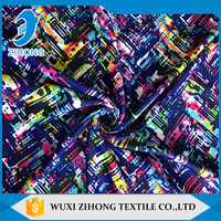 Factory supplier printed microfiber polyester spandex fabric