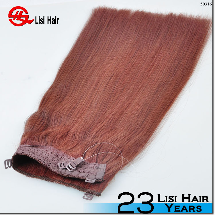 New design indian virgin hair straight style fishing wire hair
