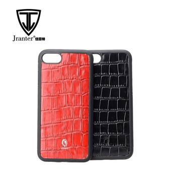 Factory customized genuine embossed crocodile pattern mobile phone cases for i phone7/8