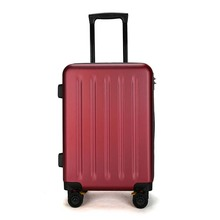 Abs Red Lady Laptop Traditional Plastic Mini Extra Small Wheeled Suitcase