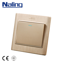 Naling Cheap Goods From China 10A Electrical 1 Gang Wall Switch With Light