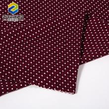 wholesale custom red dot viscose wool printed jersey fabric for kids cloth