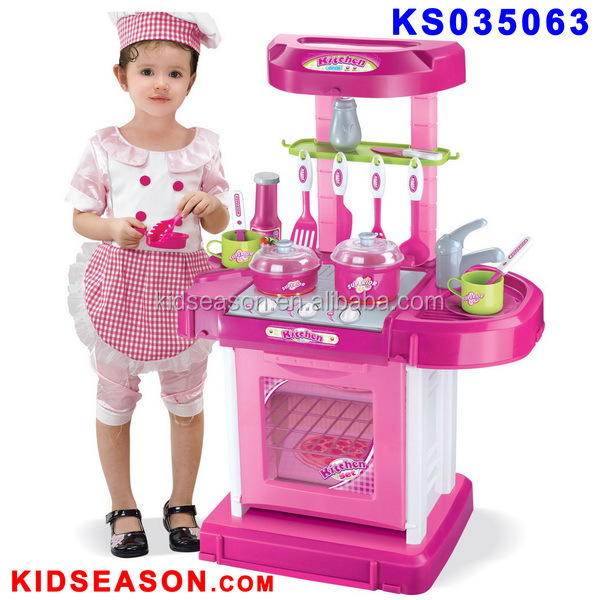 KIDSEASON Portable Children Play and Carry Plastic Kitchen Toy