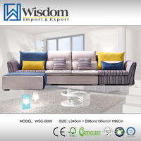 Affordable Fancy Living Room Sectional Modern Cover Sofa