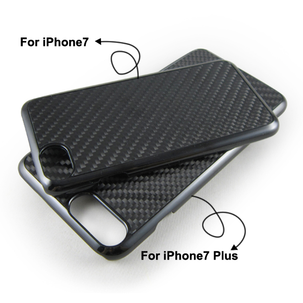 Shiny carbon fiber phone case for iPhone 7, PC bottom carbon fiber back cover for iPhone 7