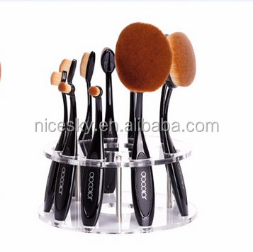 new fashion rose gold makeup brush set docolor oval brush set professional makeup brush beauty essential cosmetic tool