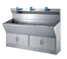 3 section medical sink hospital theater sink/3 big cabinets S.S hospital hand washing sink CY-HT3