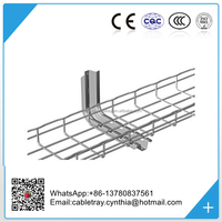 Stainless steel SS316 wire mesh basket cable tray(ISO9001 listed Factory)