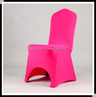 Cheap hot pink spandex chair cover for wedding decoration