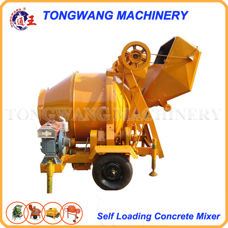 self loading JZR350 diesel concrete mixer ISO
