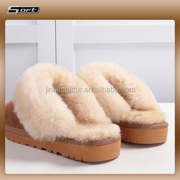 women high quality winter nuknuuk sheepskin indoor outdoor slipper