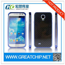 For Samsung Galaxy s4 i9500 Surplus Wind Aluminum Cover with Carbon Fiber Plate