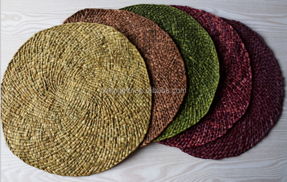 <strong>Natural</strong> Corn skin round handmade placemats