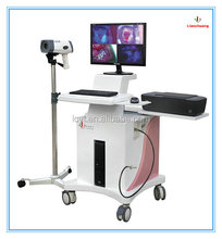 high-level brand product trolley digital Fluorescence video colposcope for vagina medical